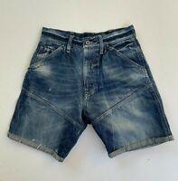 G-STAR RAW men's blue denim cut off shorts size 29 button fly