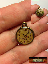 M00984 MOREZMORE Doll Pocket Watch Miniature 16 mm Dollhouse DIY Clock Prop A60