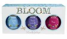 Wax Lyrical Colony 3 Tin Candle Gift Set Bloom Floral Fragrances