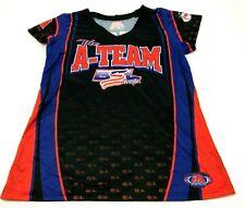 GSL A-Team Softball Jersey Size Large L Black Blue Dry Fit Shirt Short Sleeve