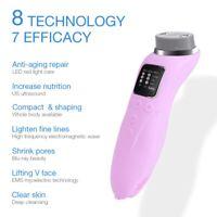 Ultrasound RF EMS LED Face Neck Lifting Massager Wrinkle Removal Tightening Skin