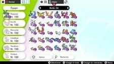 80 pokemon LÉGENDAIRE + 11 Ultra-Chimères SHINY+ 50 MasterBall + 20 objet