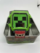 NEW MINECRAFT GREEN CREEPER LCD FLASHING ICON & DIAL WATCH TNT