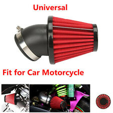 1X 48mm Universal Red Car Racing Washable Bend Air Intake Filter Accordion Mesh