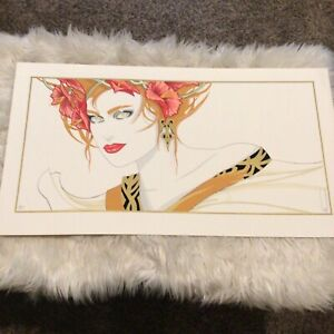 Steve Leal Serigraph Beautiful Woman Hand Signed Limited Edition 83/150