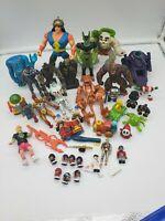 Lot of 40+ mixed action figures, Marvel nintendo minecraft disney some vintage