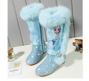Stivali bambina Frozen Elsa Disney 24-37 inverno pelo interno caldo