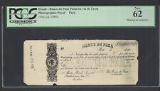 Brazil - Banco do Para Primeira Via de Letra (1906)  Photographic Proof UNC