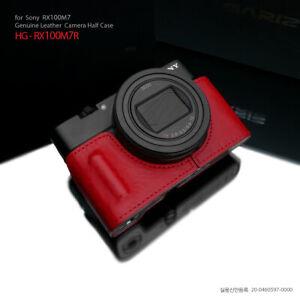 Gariz HG-RX100M7R Genuine Leather Half Case for Sony RX100M7 VII, Red
