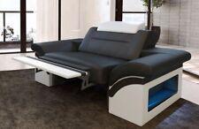 Ledersessel Design Sessel MONZA Fernsehsessel Leder Relaxsessel LED Beleuchtung