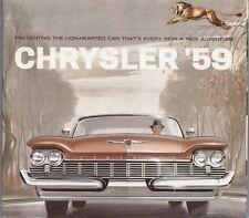[60708] 1959 CHRYSLER NEW CAR MODELS BROCHURE NEW YORKER, SARATOGA, WINDSOR