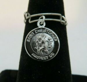 Alex and Ani St. Saint Christopher Sterling Silver Adjustable Ring