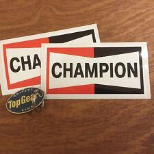 Champion Clásico Estilo Vintage y Retro Estilo Antiguo Coche Pegatinas Calcomanías 128 mm