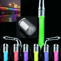 LED Water Stream Faucet Light Automatic 7 Colors Chang Shower Spout Sink Tap RF
