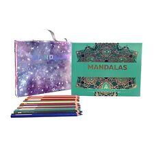 Mandalas for the Soul 1 - kit mandalas coloring book plus 24 colored pencils