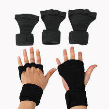 Power Weight Lifting Training Gym Hook Grips Straps Wrist Support Gloves 1Pair