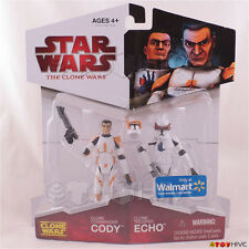 Star Wars Clone Wars Commander Cody and Clone Trooper Echo action figure 2-Pack