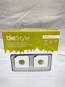 Tile Style Bluetooth Item Tracker - 2 Pack - White/Gold Model : RT-11002-EU