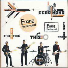 Franz Ferdinand Self Titled / This Fire Rare promo sticker sheet (11 in 1) 1997