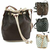 Ladies Women's Designer Checkered Bag Messenger Shoulder Handbag  UK