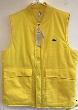 Bnwt Men's Lacoste Water-repellent Toucan ( Yellow) Gilet / Body Warmer FR 48