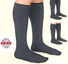 Mens Compression Dress Socks - Gray 3 PAIRS 15-20 mmHg herringbone Made in USA