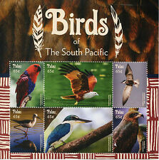 Palau 2015 MNH Birds of South Pacific 6v M/S Parrots Birds of Prey Terns Stamps