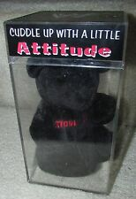 WWF Attitude Black Bear Beanie in Case CVS Stone Cold Steve Austin 1999