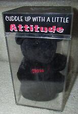 WWF Attitude Black Bear Beanie in Case CVS Stone Cold Steve Austin 1999