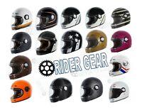 Torc T1 Helmet Retro Vintage Style Fiberglass DOT Approved XS-2XL