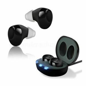 US 1 Pair Digital Invisible Hearing Aids In-Ear Enhancer Sound Voice Amplifier