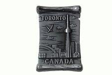 "TORONTO,CANADA , Skyline CN Tower SILVER FRIDGE  MAGNET..Size: 1.75"" x 2.75"""