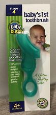 New In Package Baby Buddy Baby's 1st Toothbrush~Stage 4~4+ months~Bpa Free