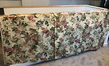 Traditional Jaquard Rose Floral Chintz Vintage Curtains Pink Pencil Pleat Lined