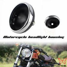 Motorcycle Balck 7 in Headlight Light Housing Bucket Side Mount Shell For Harley