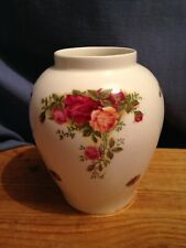A Royal Albert Vase in the Old Country Roses Pattern
