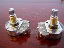 "2 MVG GP245A Vintage Guitar A500K Potentiometer Alpha 24mm Pot 5/16"" Mount BRASS"
