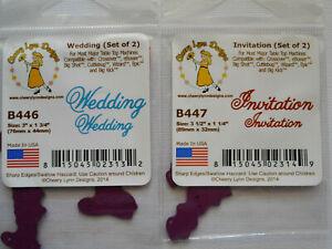 Cheery Lynn Designs Dies WEDDING & INVITATION Cutting Dies - B445 & B447  (USED)