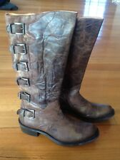old gringo leather womens knee high boots with buckles size 9b, new