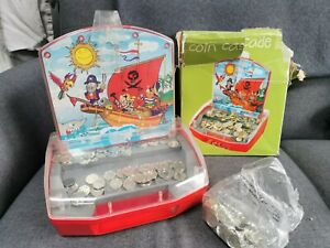 Vintage Pirate COIN CASCADE. PENNY PUSHER GAME PIRATE PUSH TIPPING POINT Toy