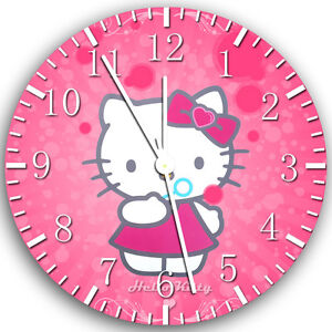 """Pink Hello Kitty wall Clock 10"""" will be nice Gift and Room wall Decor X20"""