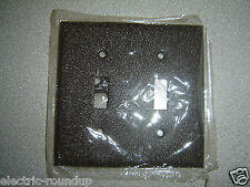Mulberry 98072, 2 Gang 2 Toggle Wrinkled Brown Steel Wall Plate