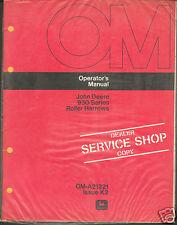 John Deere Tractor 930 Roller Harrow Operator Manual Service Shop Dealer Copy ^