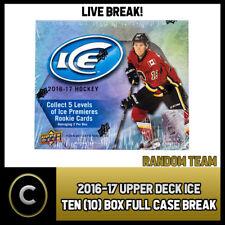 2016-17 UPPER DECK ICE - 10 BOX FULL CASE BREAK #H138 - RANDOM TEAMS