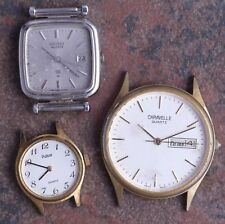 Lot of 90s Vtg Men's/Ladies Quartz Watches Seiko Pulsar Caravelle Parts/Restore