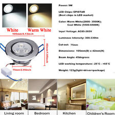 Regulador 9W 12W 15W 27W 36W LED Lámpara De Techo Empotrado Abajo Luminaria y el controlador
