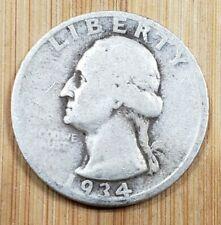 1934 US 25c Washington Silver Quarter