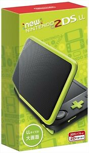 Nintendo 2DS LL Console System Black x Lime JAPAN import Japanese game NEW