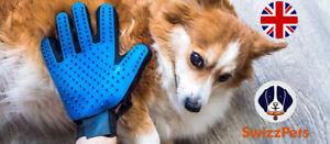 New Dog Cat Pet Grooming Glove Deshedding Brush Fur Remover Mitt  UK
