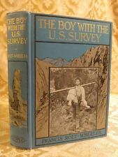 1909 The Boy with the U.S. Survey U.S. Service Series Fine Binding Antique Book